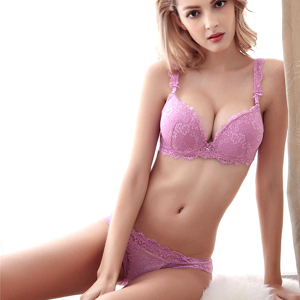 lace Bra Sexy Lingerie Embroidery Panty Official Website Ladies Secret Newest Women A/b/c Cup Push Up Bra Set Sexy Plunge Lace Bra Briefs