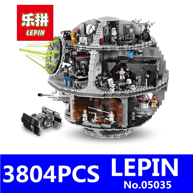 Star Wars Death Star Building Block Bricks Model LEPIN 05035 3804Pcs Educational Toys for Children Kits Compatible Boys Toy Gift lepin 16008 4160pcs cinderella princess castle city model building block kid educational toys for gift compatible legoed 71040