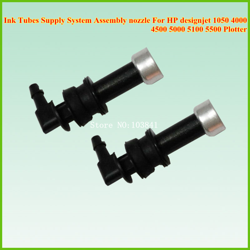 10pcs Compatible new Ink Tubes Supply System Assembly nozzle For HP designjet 1050 4000 4500 5000 5100 5500 Plotter refurbished q6683 60195 24inch plotter ink supply tubes for hp designjet t610 t1100