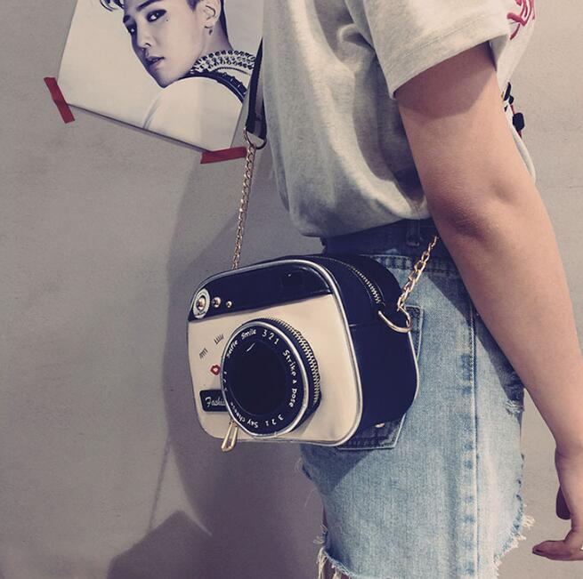 2019 girl vintage fashion lady camera shoulder bag women handbag chain messenger female crossbody bag 2