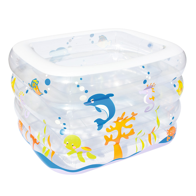 Bestway Infant Pool Swimming Pool 120*105*75cm Thicken Insulation Inflatable Square Pool Family Baby Pools