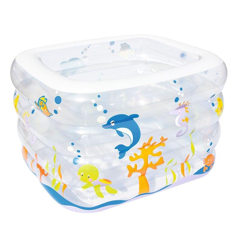 Bestway piscine pour bébé piscine 120*105*75 cm épaissir isolation gonflable piscine carrée famille bébé piscines