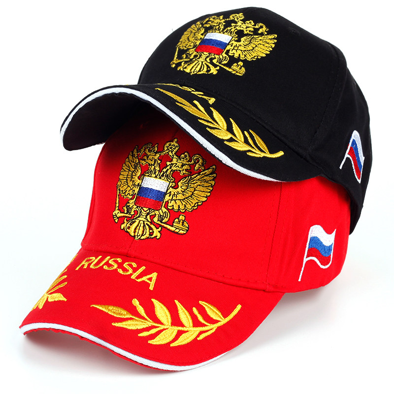 Gorros de moda con bordado de emblema ruso y gorra de béisbol de algodón  100% c4fb1a8824d