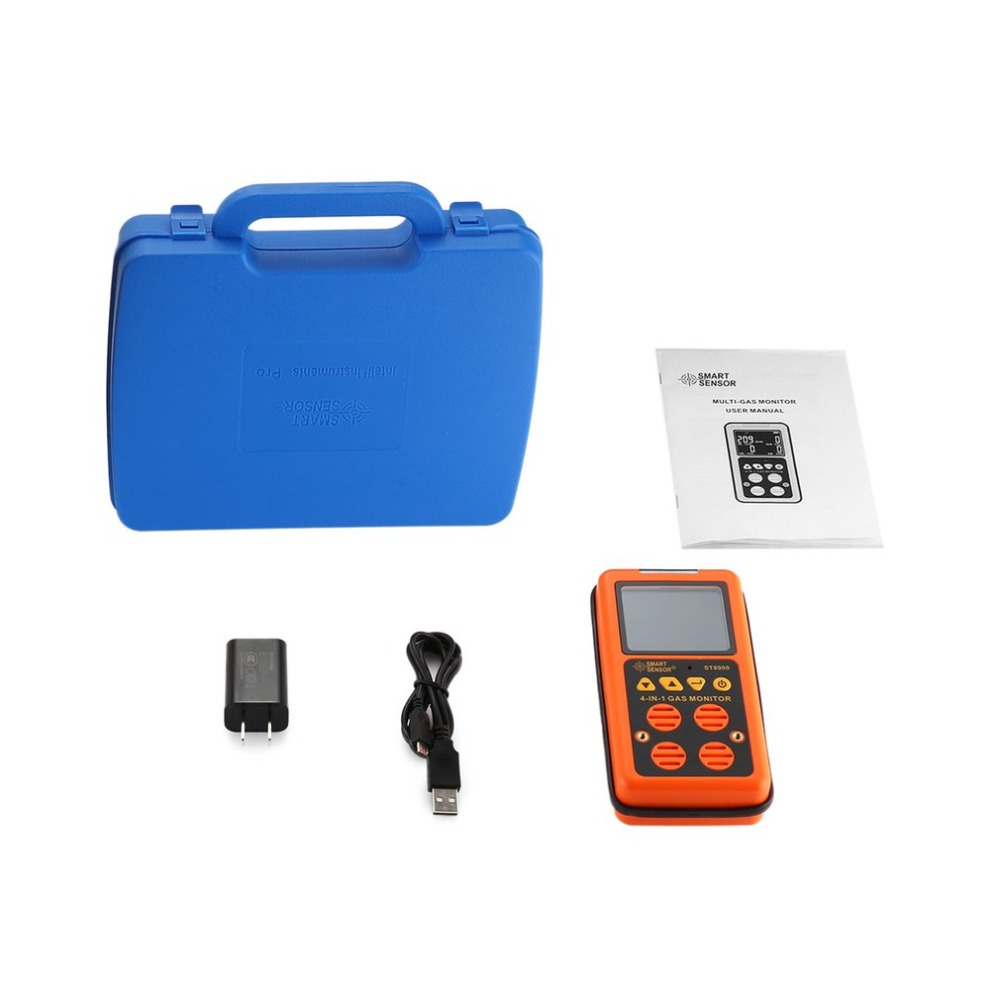 Digital Gas Detector 4 in 1 O2 H2S CO LEL Handheld Mini Gas Analyzer Air Monitor Gas Leak Tester Carbon Monoxide Meter bh 4s 4 in 1air quality monitor gas analyzer air tester portable compound gas detector o2 ex co air quality monitor