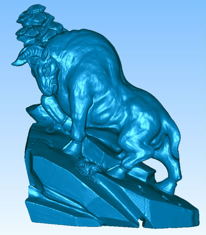 3D Model Stl,grayscale,carved Figure Relief For Cnc Machine In STL File Format The Bull 001