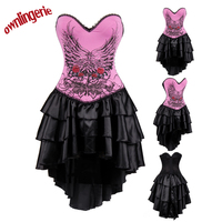 New Style Sexy Dare Pink Punk Dress With Flower Design S 2xl W3488