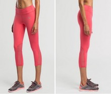 Women's Compression Cropped Trousers Leggings Sportswear Jogging Yoga Fitness Workout Tights Quick Dry Pants