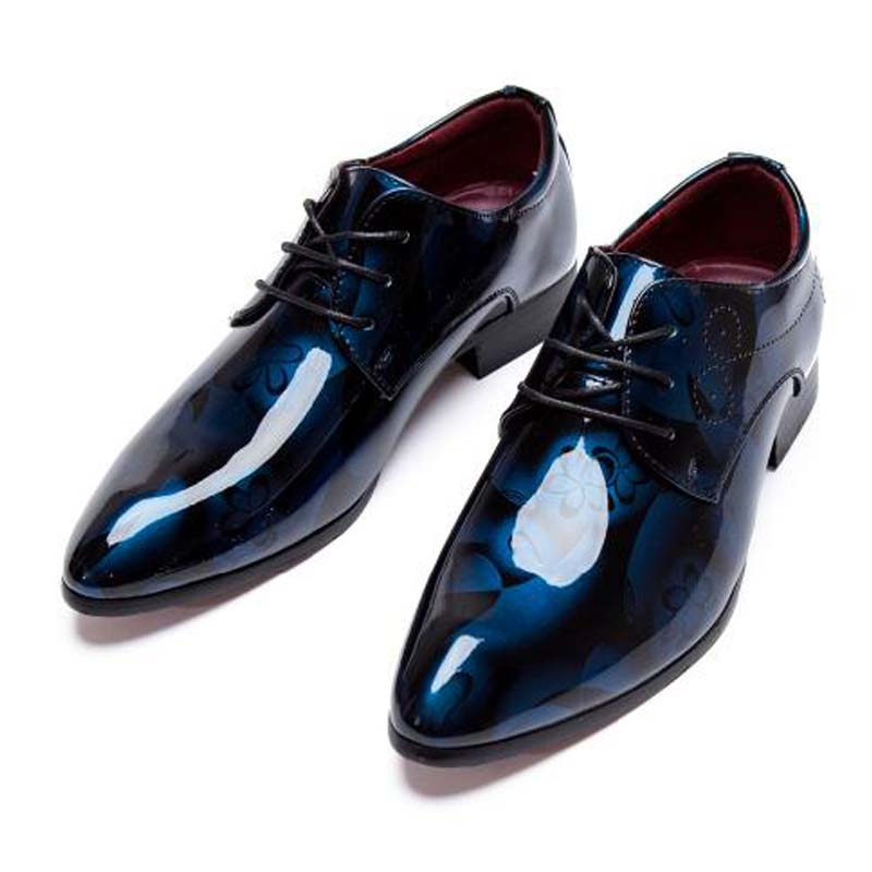 Men Dress Shoes Shadow Patent Leather Luxury Fashion Groom Wedding Oxford 38 48 M394 In Formal From On Aliexpress Alibaba