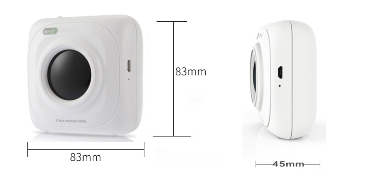 Portable Bluetooth 4.0 Pos Printer Mini Thermal Photo Picture Printer Support iOS, Android and Windows