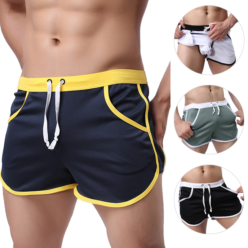 2018 New Fashion Quick Dry Clothing Men's Casual Shorts Household Man Shorts G Pocket Straps Inside Trunks Beach Shorts