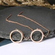SMJEL – boucles d'oreilles rondes en acier inoxydable pour femmes, bijoux à la mode