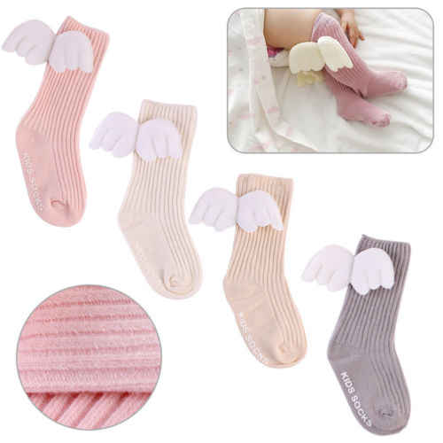 2018 Brand New Baby Toddler Infant Newborn Kid Cotton Warm Angel Lovely Wing Socks 4 Colors