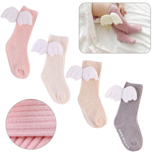 New baby girls frilly socks cotton white pink lace flower trim plain 0-12 months