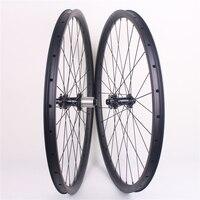 650B XC carbon wheels tubeless 30mm wide 27.5er carbon mtb wheels Novatec carbon wheels