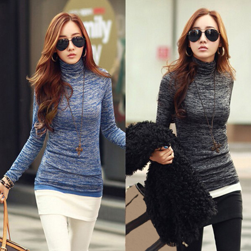 ZANZEA Pull Femme Women Sweater 2019 Autumn Winter Turtleneck Knitted Sweater Long Sleeve Jumper Pullovers Slim Casual Shirts