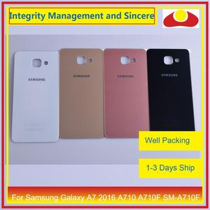 Image 1 - Original For Samsung Galaxy A7 2016 A710 A710F SM A710F Housing Battery Door Rear Back Cover Case Chassis Shell Replacement