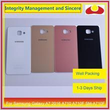 מקורי עבור Samsung Galaxy A7 2016 A710 A710F SM A710F שיכון סוללה דלת אחורי כיסוי אחורי מקרה מארז פגז החלפה
