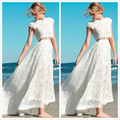 2016 Sexy Two Pieces Wedding Dresses Bohemian Wedding Dresses Lace Crop Top Vintage High Low Boho Beach Bridal Gowns Custom Made