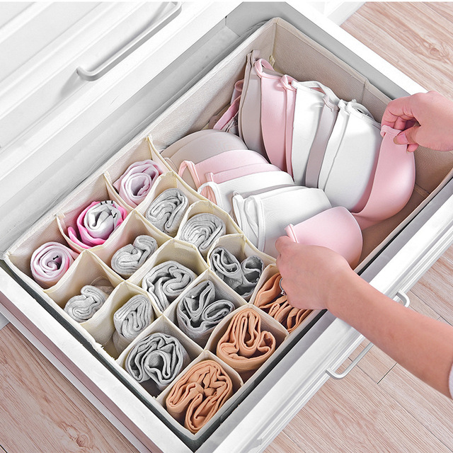 Genial Underwear Bra Organizer Storage Box Drawer Closet Under The Bed Organizers  Boxes For Underwear Scarfs Socks