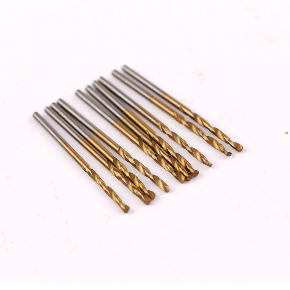 50 pièces 1/1.5/2/2.5/3mm titane enduit HSS haute vitesse jeu de forets en acier titane pour bois plastique foret hélicoïdal ensemble # P