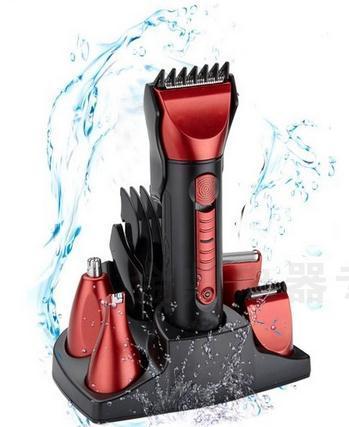 JM8058 5-em-1 multifunções corte de cabelo lavagem do corpo de lã nariz implementar navalha kit
