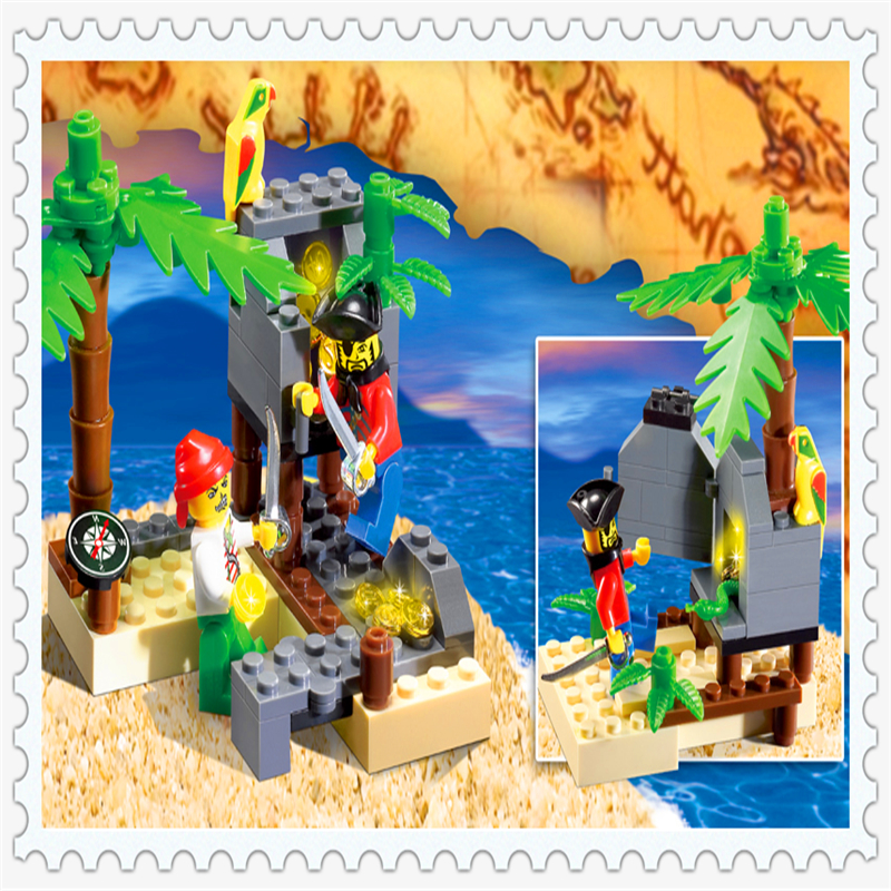 Sluban 0278 142pcs Pirate Skeleton House War Skull Guard Building Block Bricks Toy Fixing Prices According To Quality Of Products Model Building Blocks