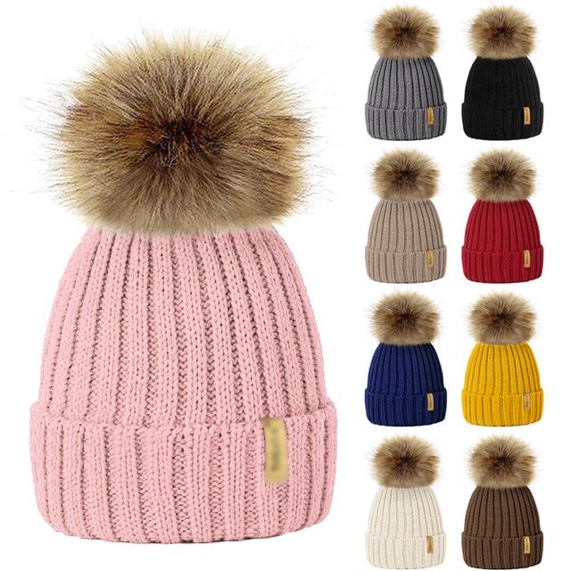 ffe75b345234 269.23 руб. 20% СКИДКА 9 Цвета родителей Дети вязаная шапка Hat зима теплая  ...
