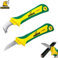 Cable Stripping Knife Wire Stripper Electrician Knife Curved Mouth With Hook Fixed Blade For Rubber Cable Wire Hand Tools