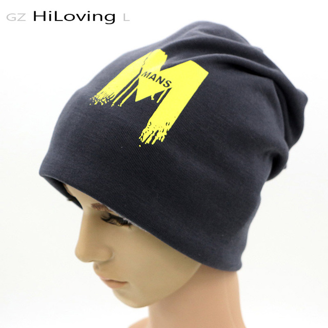 GZHilovingL Autumn Winter Soft Warm Cotton Knitted Hat Mens Slouchy Beanie Cool Long Knit Hats For Man Big Baggy Men Skullies