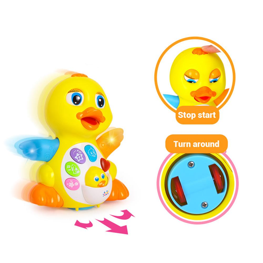 Flapping Yellow Duck Baby Toys EQ Infant Brinquedos Bebe Electrical Pet Chiled