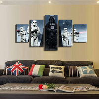 Movie Poster Wall Canvas Prints 5 Piece Wall Art Pop Art Print on Canvas Oil Painting For Home Decor Living Room Wholesale