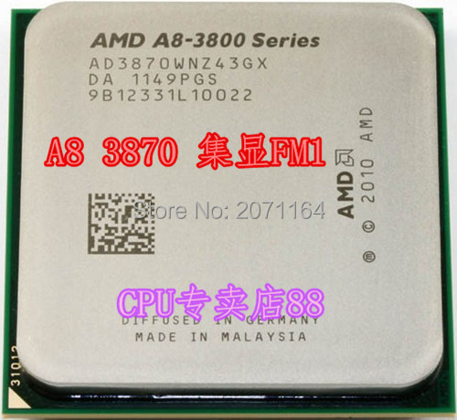 For AMD APU A8-3870K 3.0G FM1 Integrated Graphics Interface official version of quad-core CPU desktop cpu