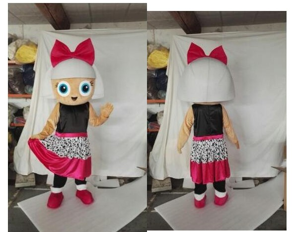 Hot sale Foam Character Adult cute Plush LOL Doll Pink Dress Girl Mascot Costume fancy dress Halloween party costume