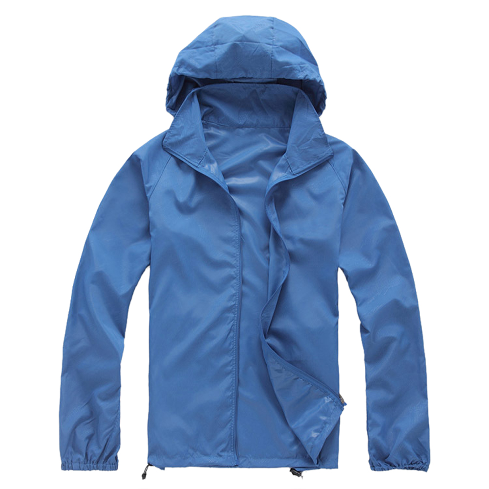 Outdoor Unisex Cycling Running Waterproof Windproof Jacket Rain Coat  Royal Blue XS|Hiking Jackets| |  - title=