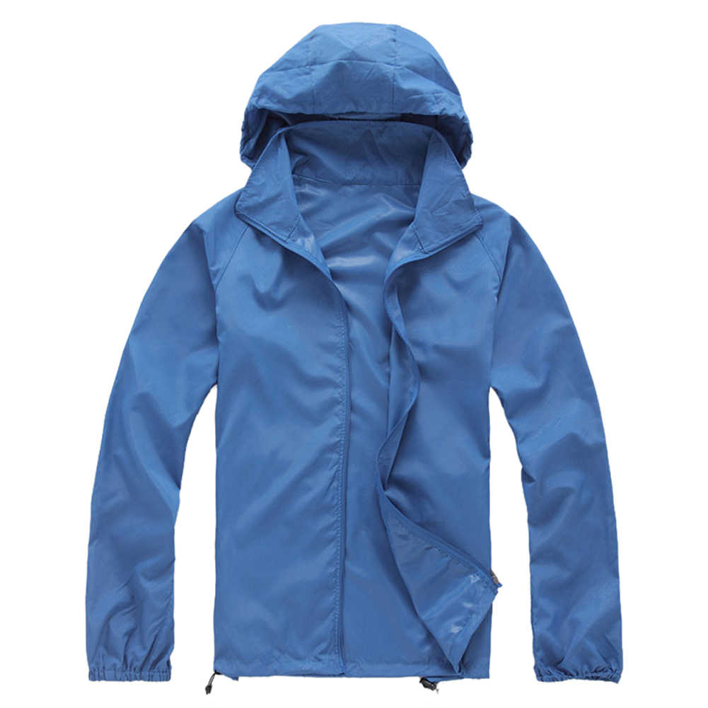 屋外ユニセックスサイクリング防水防風ジャケットレインコート-ロイヤルブルー、 XS
