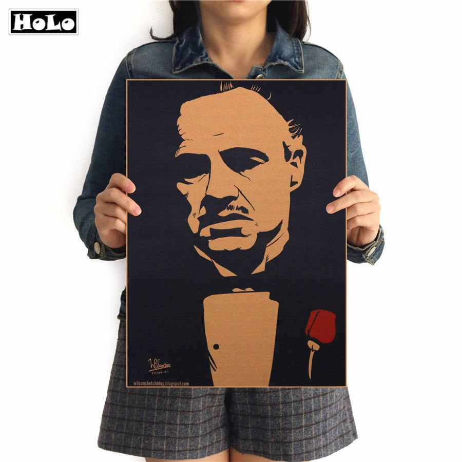 Vintage USA Movie Poster Godfather Retro home bar cafe Restaurant Cinema decor wall art sticker painting print picture 42x30cm