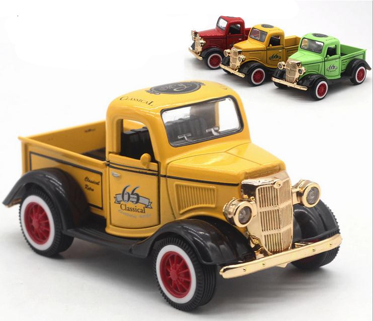 1:36 alloy pull back car model toys, high imitation Ford pickup, metal castings, music flash toy vehicles, free shipping high simulation car 1 46 scale alloy pull back ford f150 pickup truck raptor soil version alloy car model toys free shipping