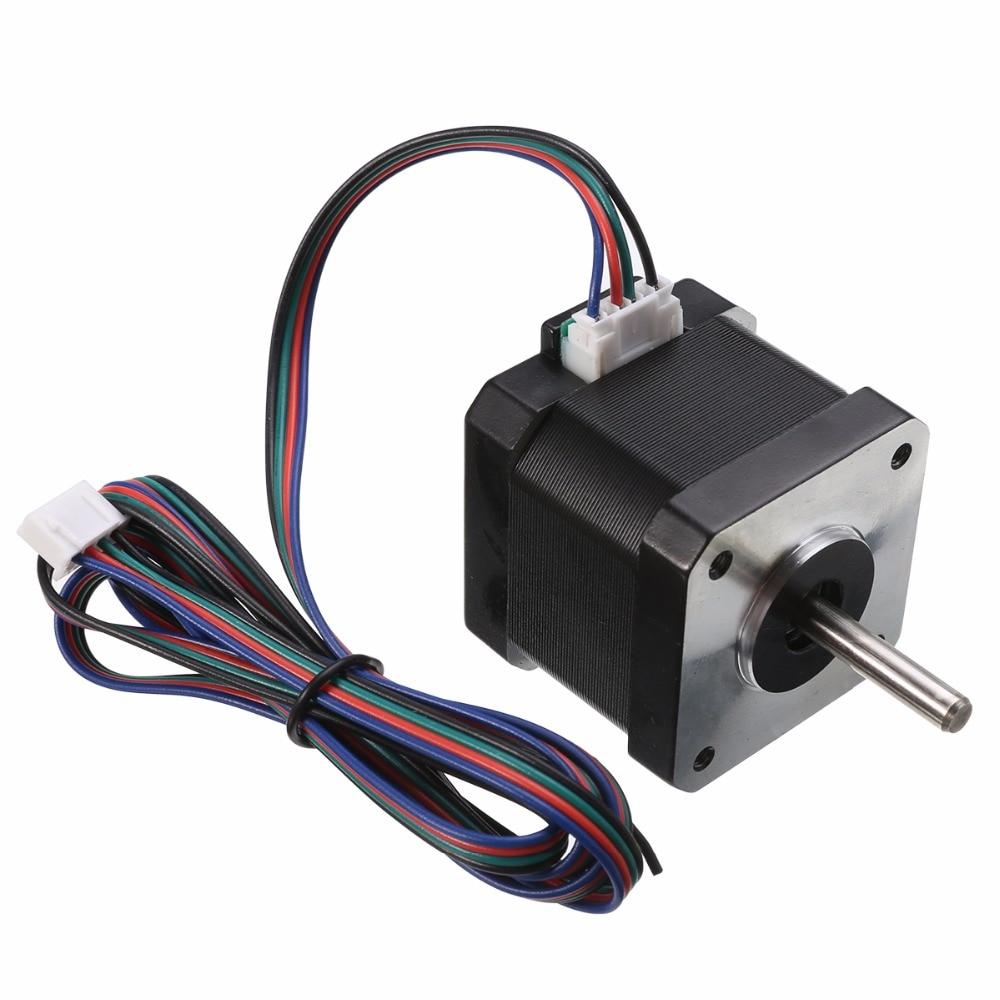 1pc 1.7 A/phase 40mm NEMA17 Stepper Motor 2 Phase 4-wire Motor CNC 1.8 Degree For 3D Printer nema17 1 8 degree 42mm 2 phase stepper motor fit adapter drive jk0220 for 3d printer cnc jk42hs40 1704