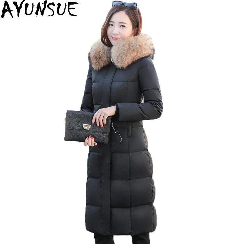 Cappotto Size Donne St398 Femminile Neve Inverno 2018 Grey Mujer Piume 4xl  Reale black Outwear Nuovo Fur Plus ... d429fabc0da