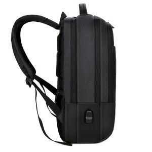Image 2 - 2019 メンズビジネスノートパソコンのバックパック USB 充電男性 14 15 インチコンピュータバッグ防水 Bookbags トラベル Mochila