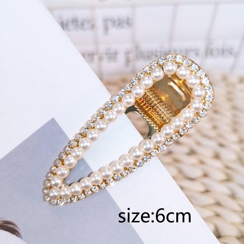 Купить с кэшбэком Sale 1PC Fashion Pearl Hair Clip for Women Barrette Hairpin Hair Styling Accessories
