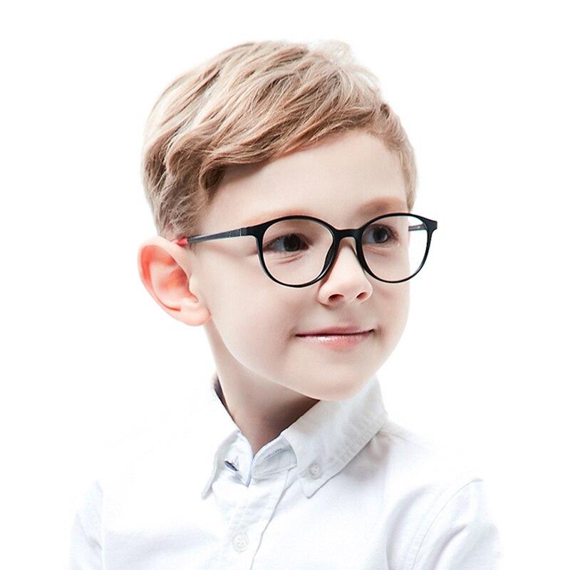 Kirka Tr90 Flexible Kids Glasses Frames Children Optical Frames Black Boys Glasses Round Children Eyeglass For 6-10 Years Old