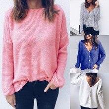 2018 Fall Clothing Women V Ncek Button Long Sleeve Tshirt Shirt Shirts