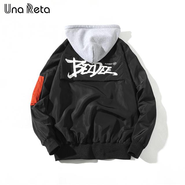 Una Reta Jackets Men 2018 Spring New Fashion Brand Design Street Printing Windbreaker Jacket  Mens Hip-Hop Hooded Jackets Coats
