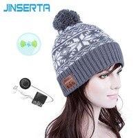 JINSERTA Fashion Beanie Hat Cap Wireless Bluetooth Earphone Smart Headset Speaker Mic Winter Outdoor Sport Stereo