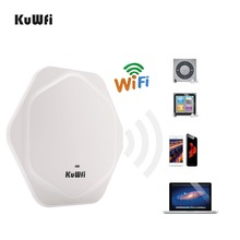 KuWFi 300Mbps Wireless Router Indoor Celling Access Point High Performance Indoor Wifi Router Wireless AP With 48V POE