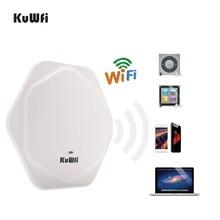 Routeur sans fil KuWFi 300 Mbps Point daccès au plafond intérieur routeur Wifi intérieur haute Performance AP sans fil avec 48 V POE