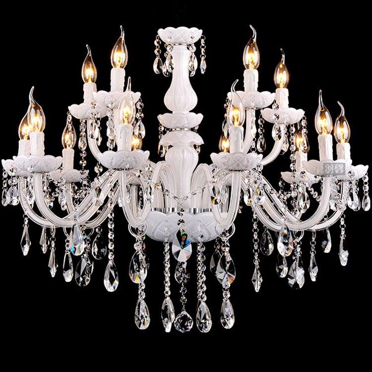 Lustres en cristal Candelabro Éclairage Lustres de cristal Teto Sala Lustres LED Cristal 6, 8, 10 Lumières Candelabro