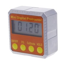 360 degree Digital Protractor Inclinometer Electronic Level Box Magnetic Angle Gauge Ultra slim