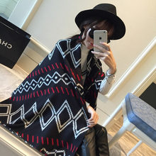 Winter Blanket Scarf Women Brand Casual Cashmere Scarf Femme Chic Rhombus Tartan Pashmina YJWD377